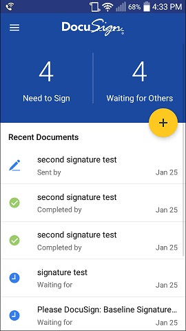 DocuSign Mobile App | DocuSign | The University of Texas at
